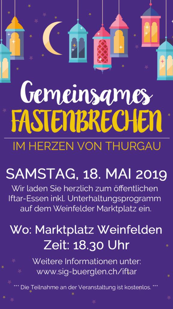 Gemeinsames Fastenbrechen 2019 Thurgau Weinfelden