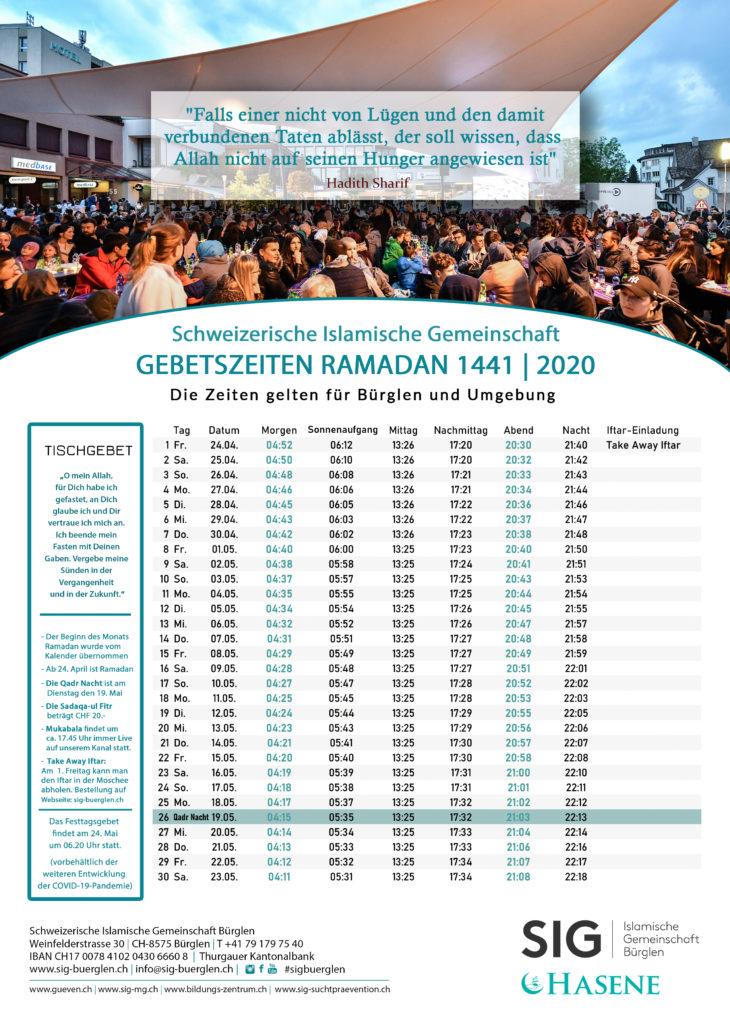Ramadankalender, Bürglen, Thurgau, Muslim, Ramadan